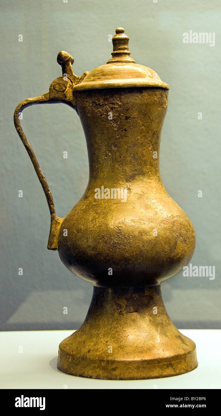 Jug Tin France  1400  - 1500 Middle Ages Medieval - Stock Image