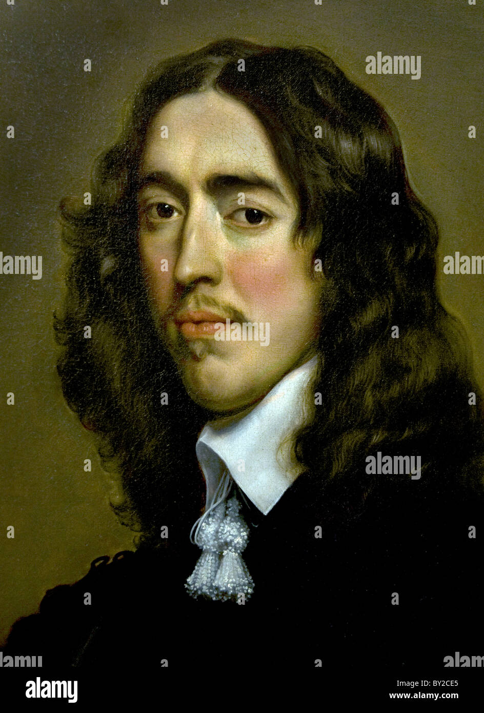 Adriaen Hanneman Netherlands Dutch painter painting portrait Johan de Witt 1652 - Stock Image