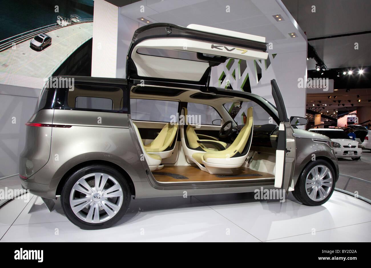 Detroit, Michigan - The Kia KV7 concept car on display at the North American International Auto Show. Stock Photo