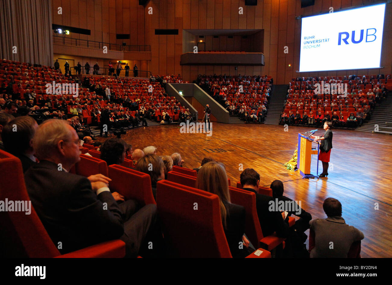 Prof. Dr. Margot Kaessmann during the inaugural lecture of her guest's professorship of the Ruhr University - Stock Image