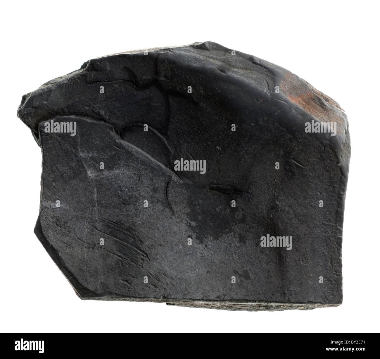 Shale. Sedimentary rock sample - Stock Image