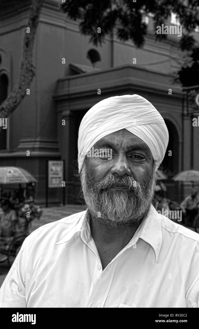 Melaka Malaysia Heritage City local bearded man Main Square downtown artists area - Stock Image