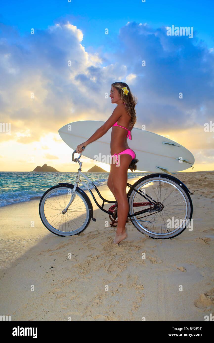 Bikini girls riding