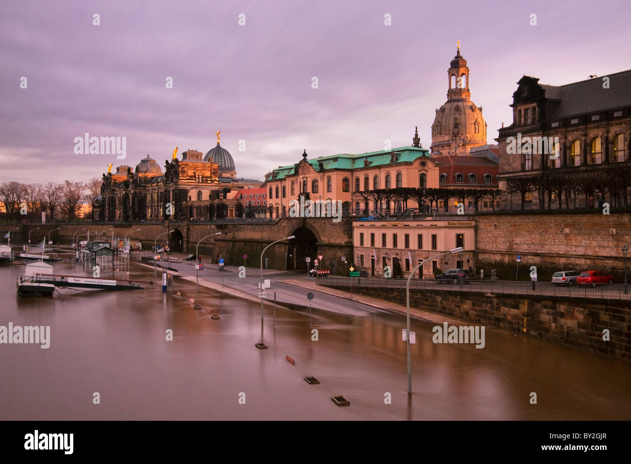 Hochwasser in Dresden - Stock Image