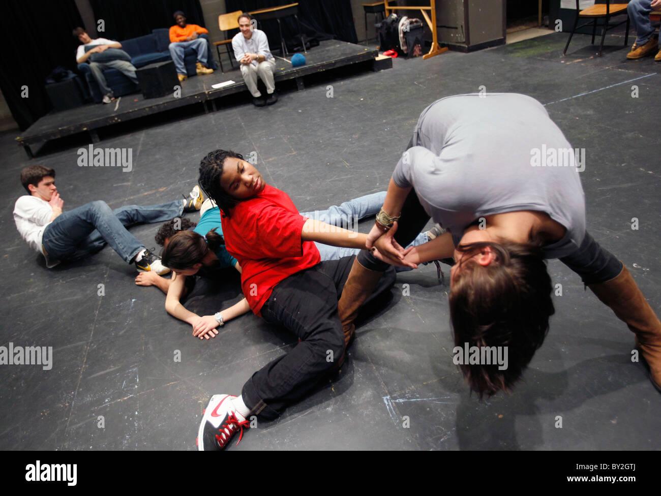 American high school theater class - Stock Image
