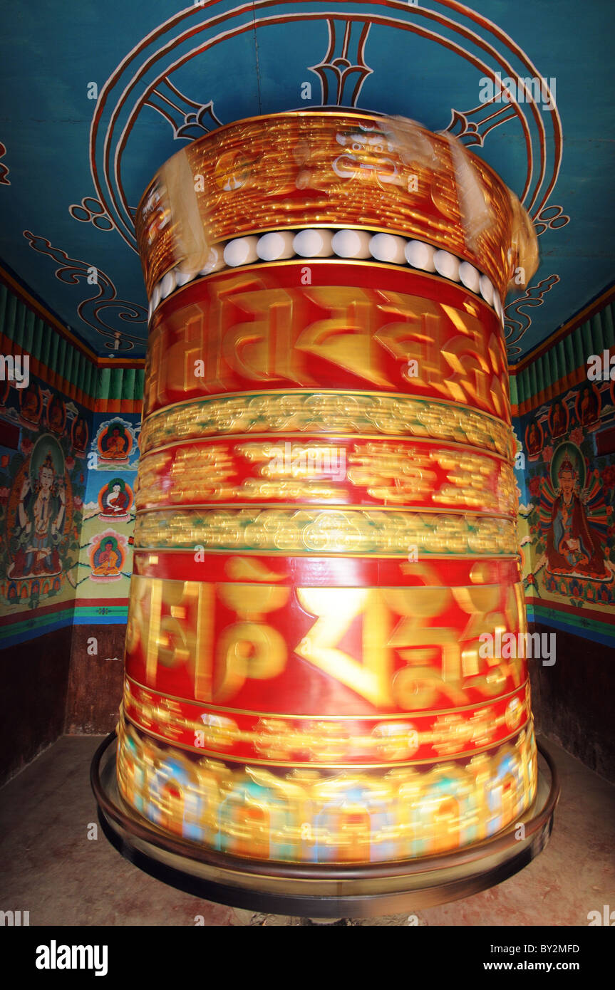 Prayer wheels in Nepal - Stock Image