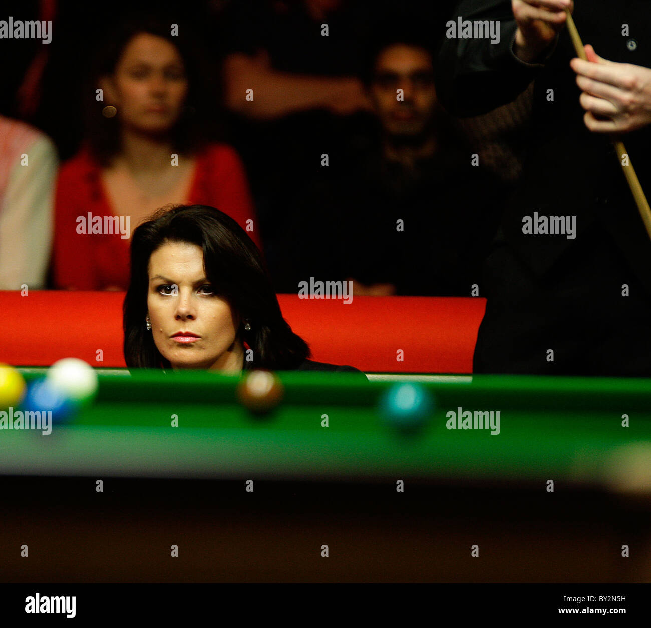 Michaela Tabb snooker at the Masters Snooker from Wembley Arena. - Stock Image