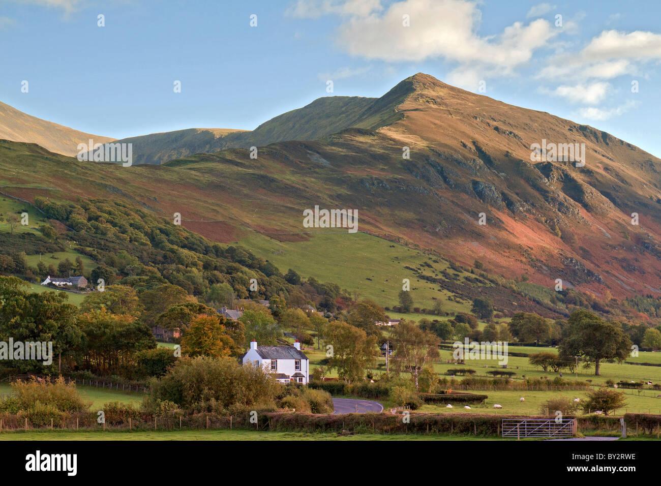 UK Cumbria Hillside Cottage - Stock Image