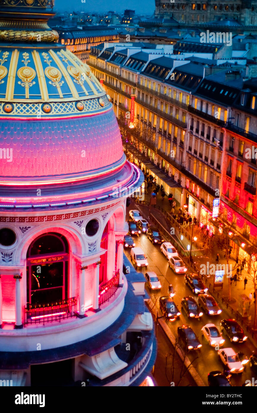 Paris, France, Shopping, Printemps Department Store, Outside, Dusk, Boulevard Haussmann - Stock Image