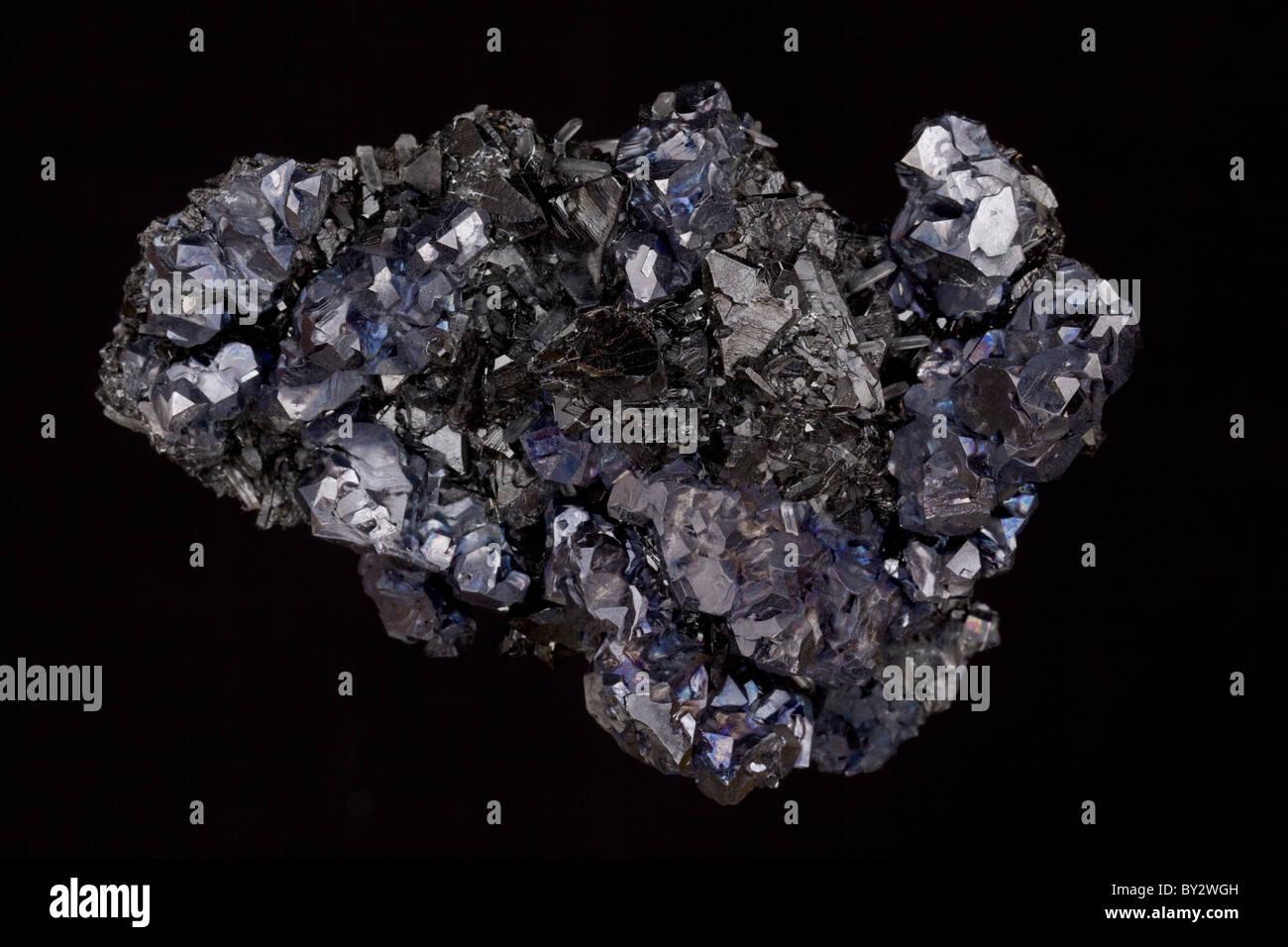 Galena -The primary ore of lead and Sphalerite the primary ore of zinc - Madan - Bulgaria - Stock Image