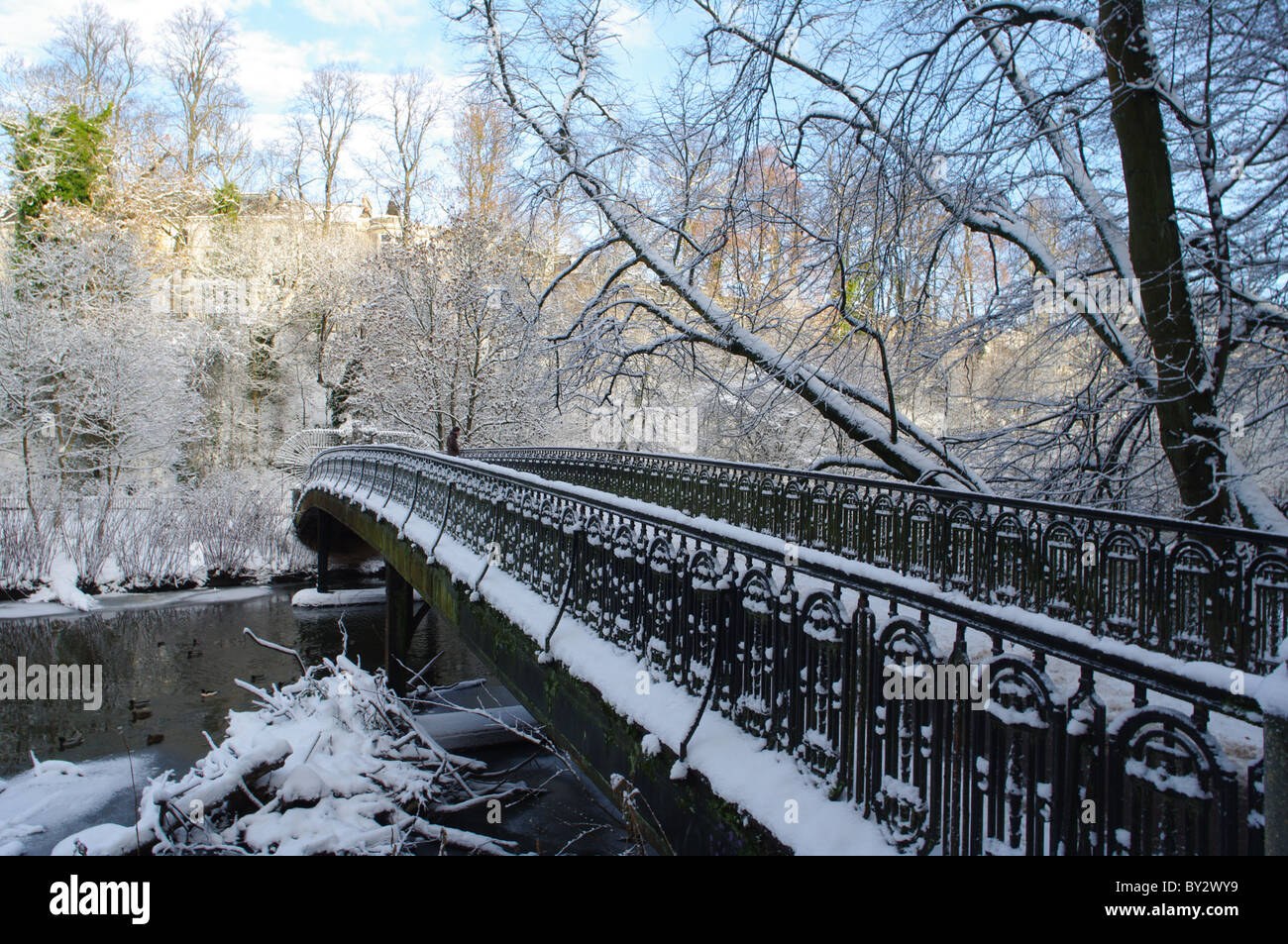 Bridge Over River Kelvin Botanic Gardens West End Glasgow Scotland