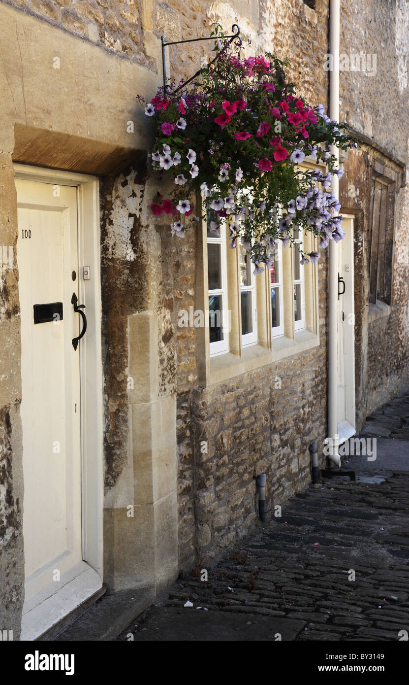 Old Weavers Cottages in the village of Corsham, Wiltshire - Stock Image