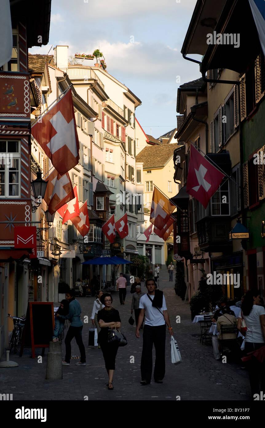 Augustinergasse, Zurich, Switzerland - Stock Image