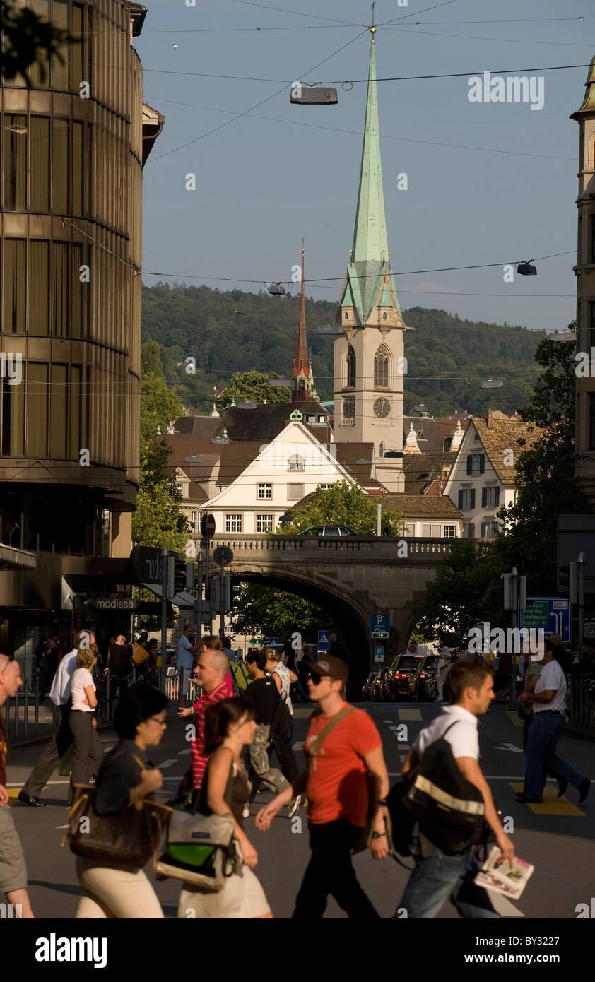 Bahnhofstrasse, Zurich, Switzerland - Stock Image