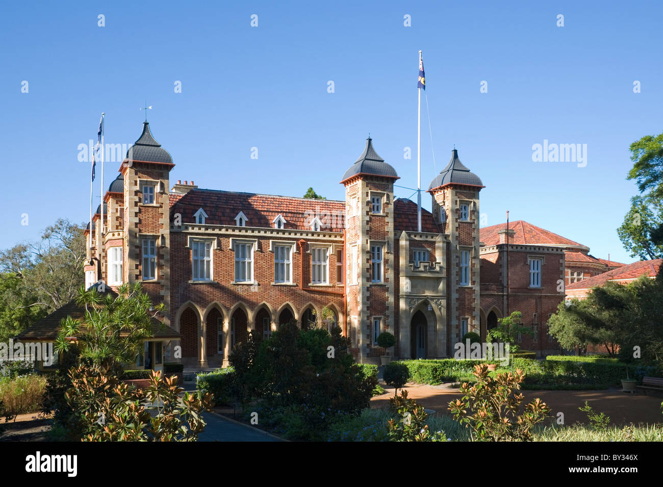 Government House, the official residence of the Governor (The Queen's representative) of Western Australia - Stock Image