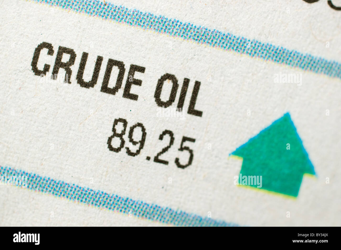 January 2011 crude oil stock prices up - Stock Image
