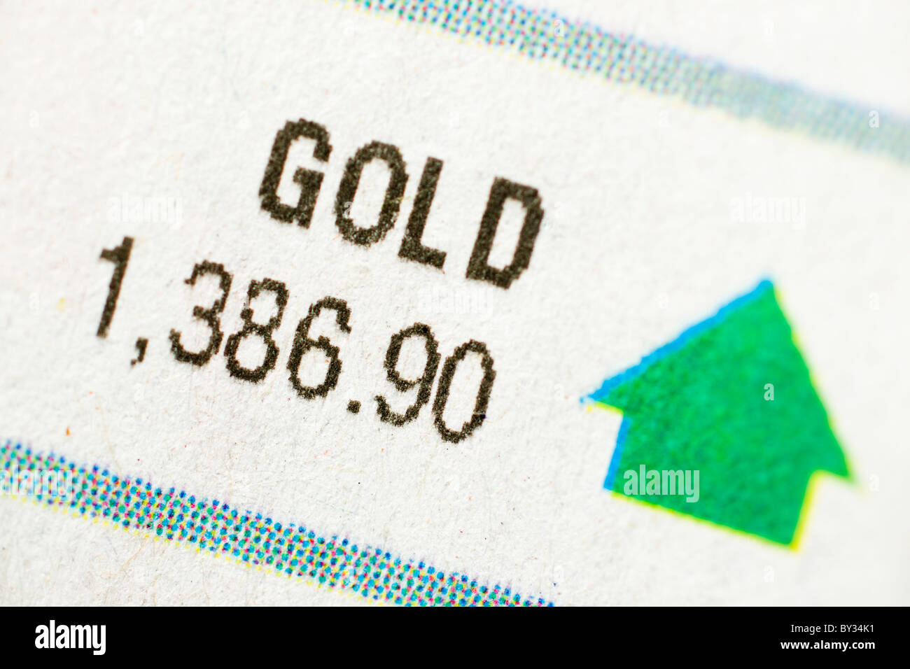 January 2011 gold price up - Stock Image