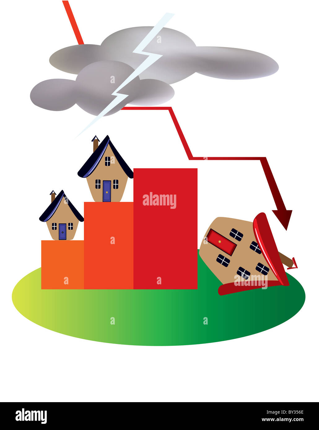 Property market crash - Stock Image