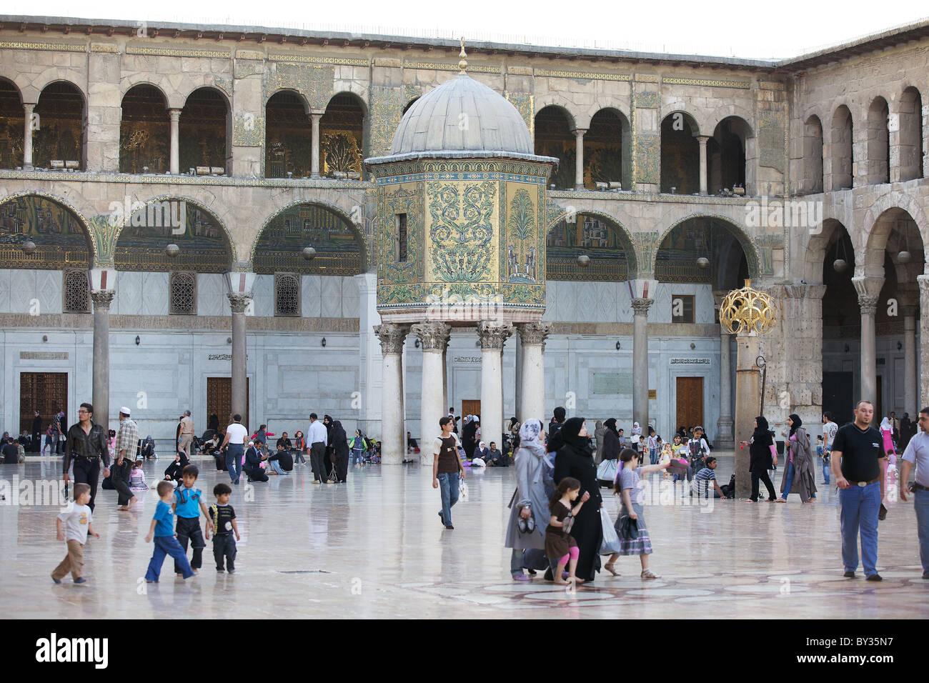 Great Umayyad Mosque, Damascus, Syria - Stock Image