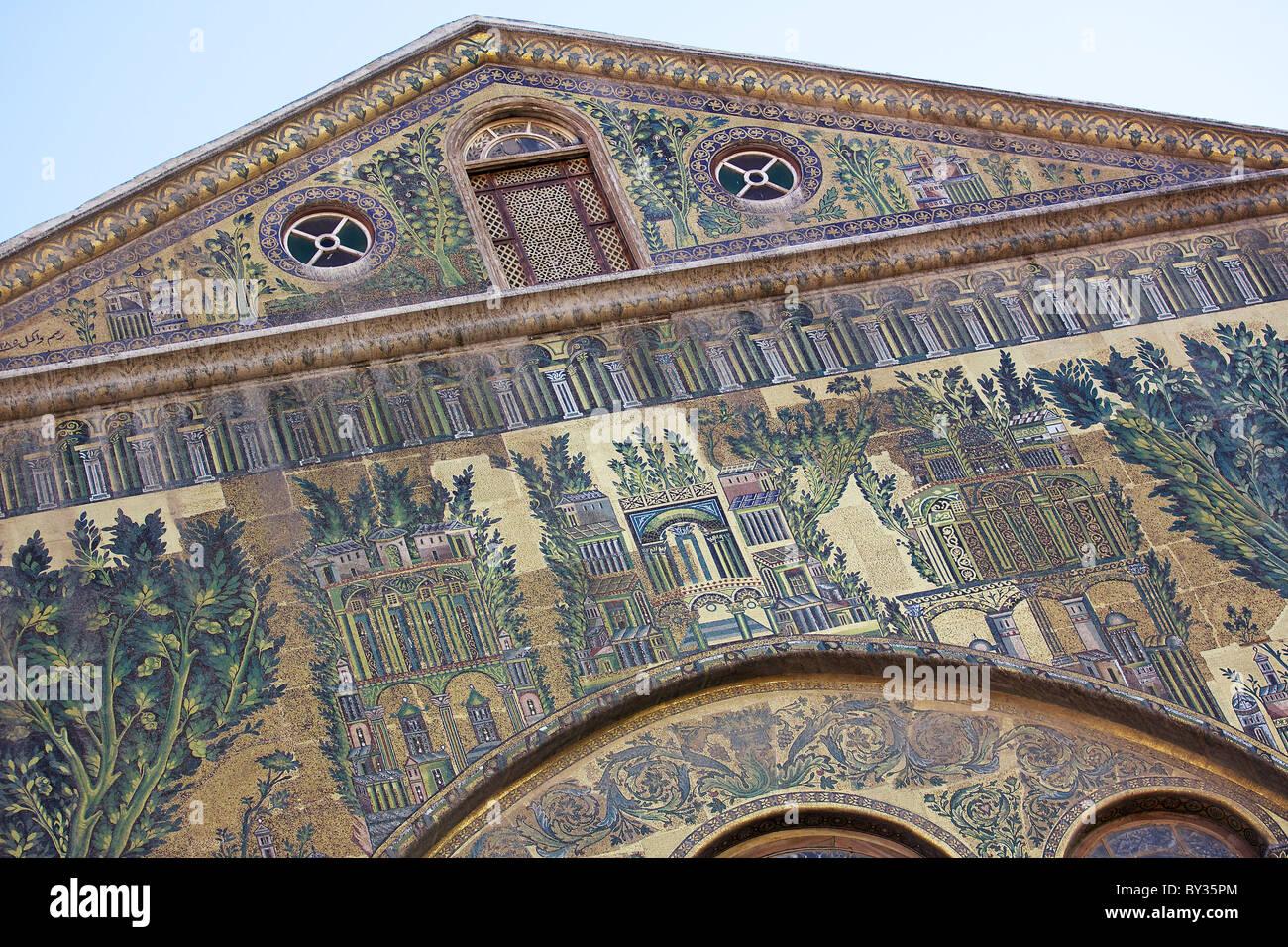Mosaics on Great Umayyad Mosque, Damascus, Syria Stock Photo