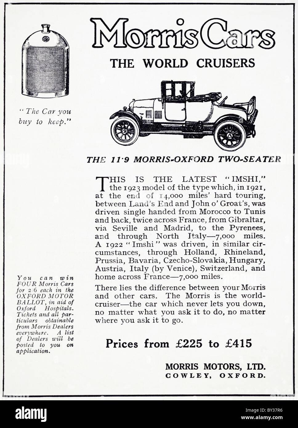 Bullnose Morris Vintage Car Stock Photos & Bullnose Morris Vintage ...