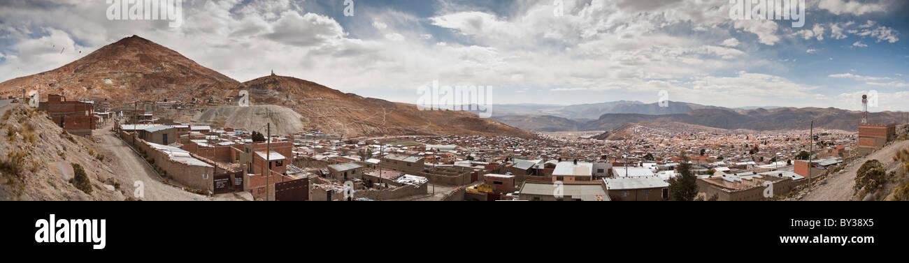 Panoramic of Potosí and Cerro Rico mine, Bolivia - Stock Image