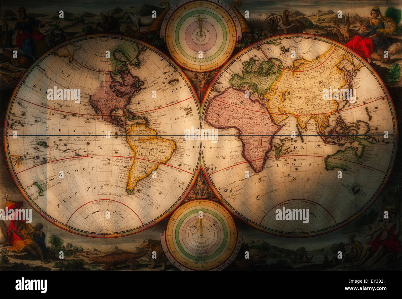 Old map of the world stock photos old map of the world stock antique world map stock image gumiabroncs Images