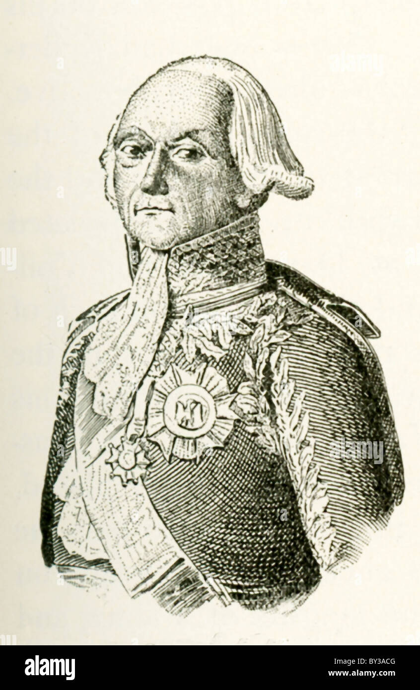 Francois Kellermann, the First Duke of Balmy, was Marshal of France during the Napoleonic Wars (1803-1815). - Stock Image