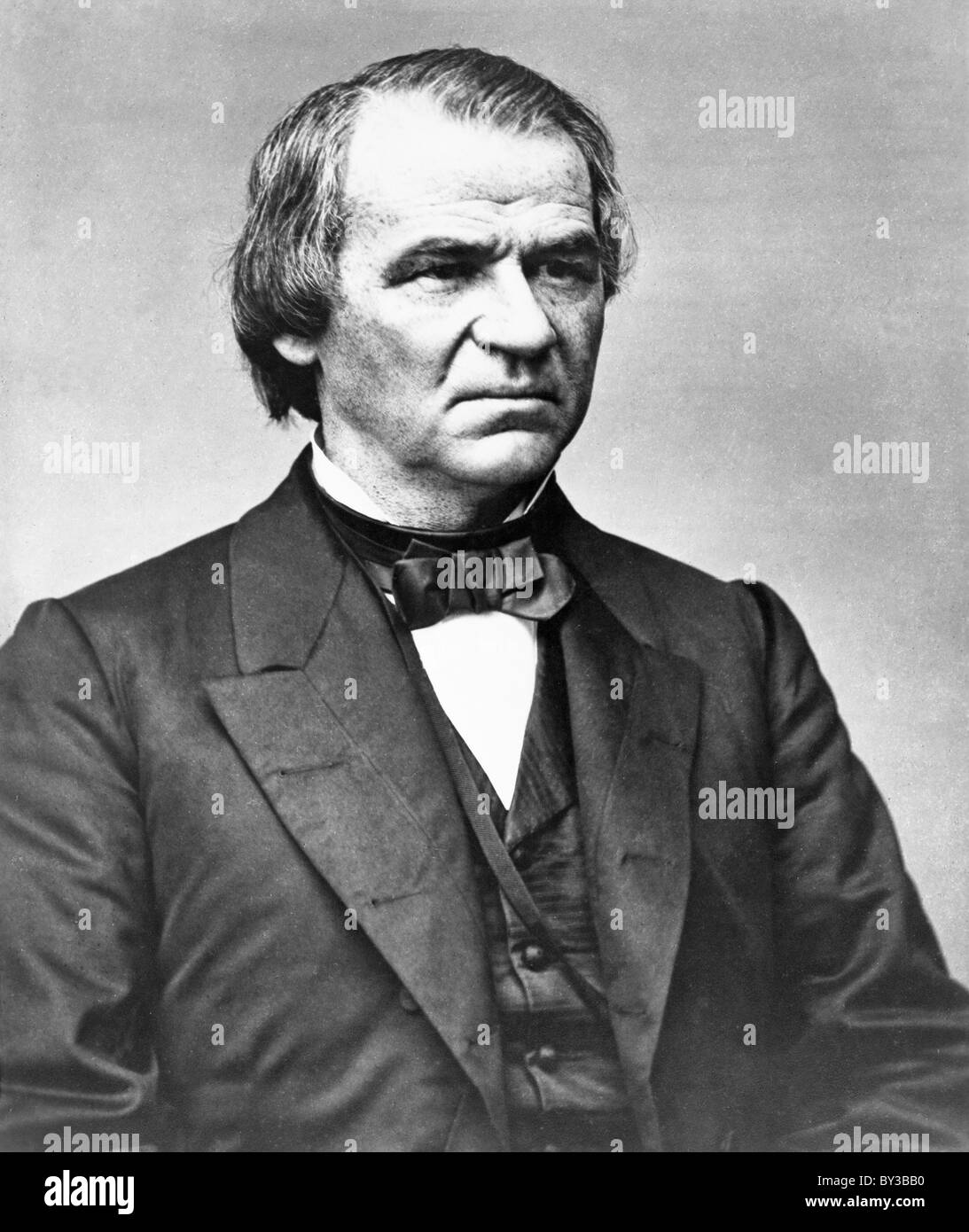 Andrew Johnson, President Andrew Johnson was the 17th President of the United States. - Stock Image