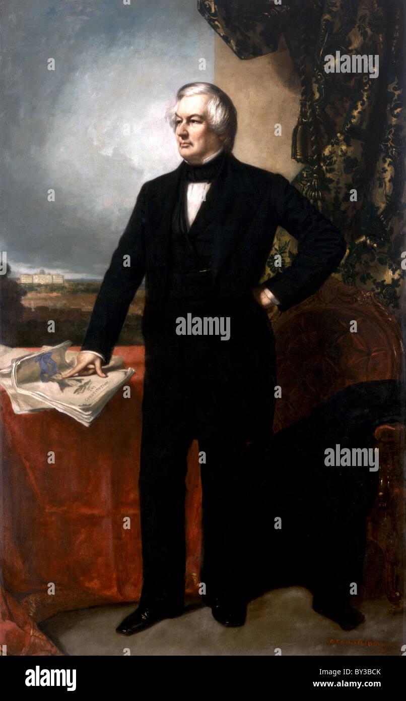 Millard Fillmore, President Millard Fillmore was the 13th President of the United States Stock Photo