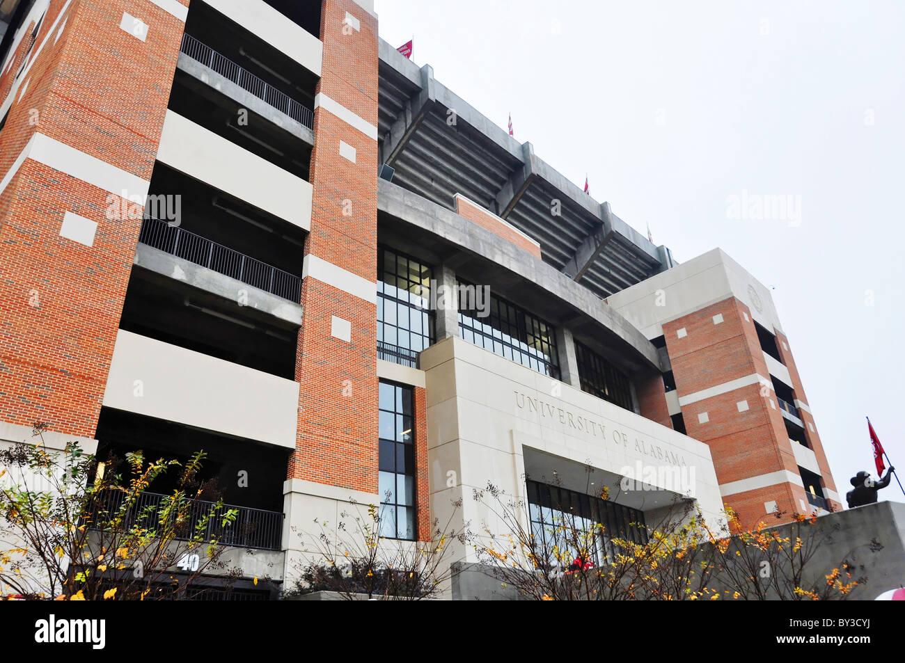 Bryant Denny Stadium at Tuscaloosa, Alabama. - Stock Image