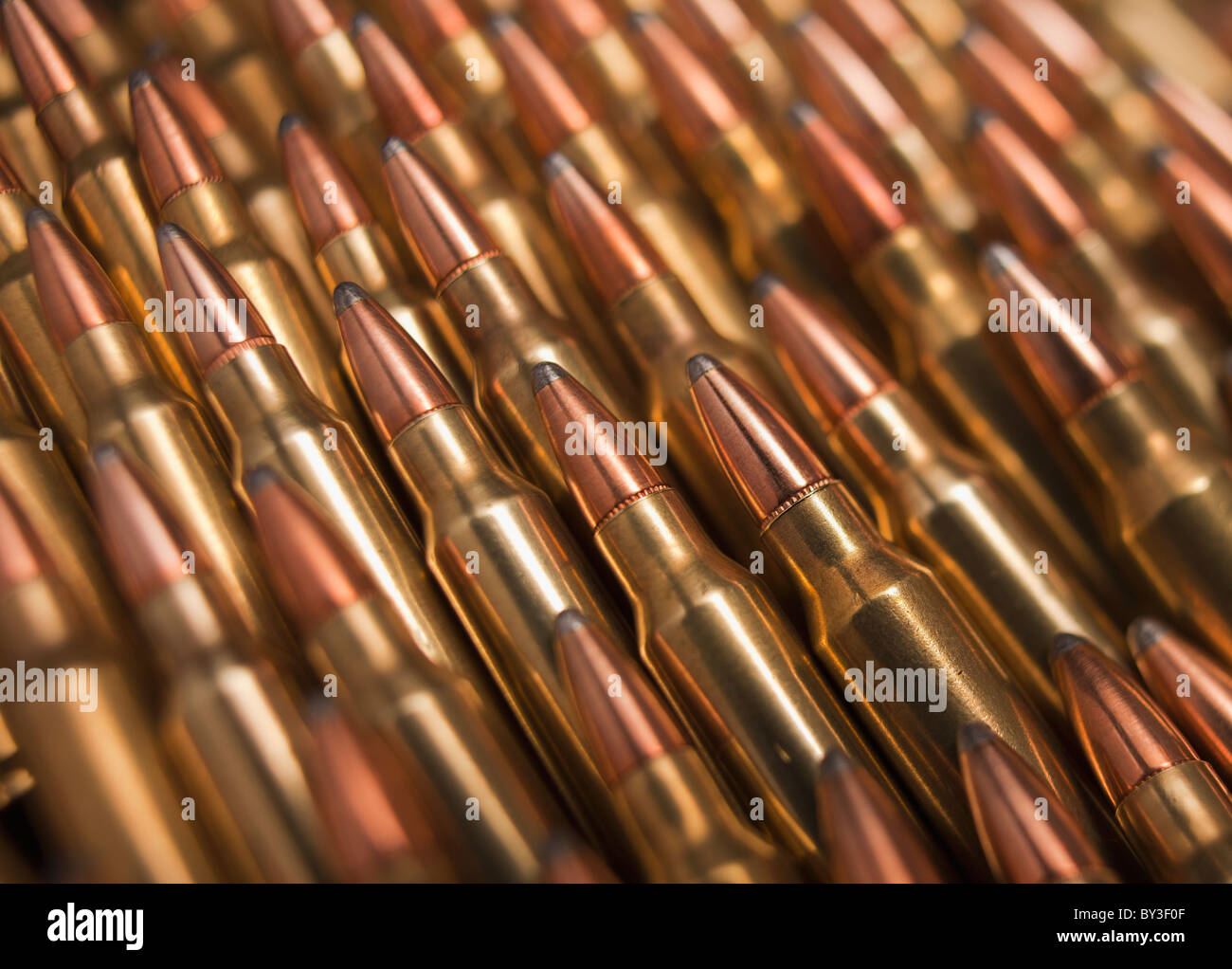 Pile of bullets - Stock Image