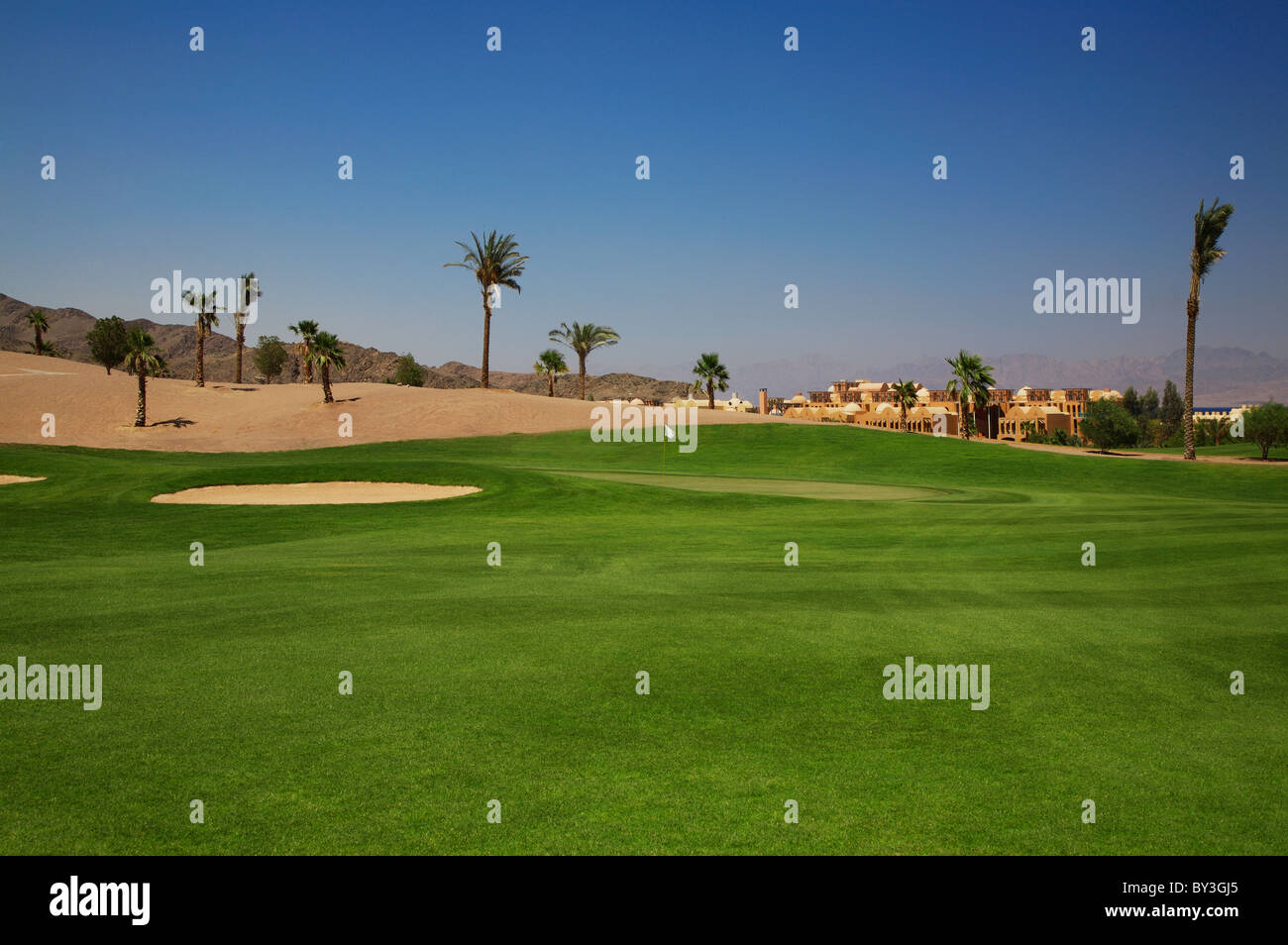 Taba Heights Golf Course hole 11 par 4 - Stock Image