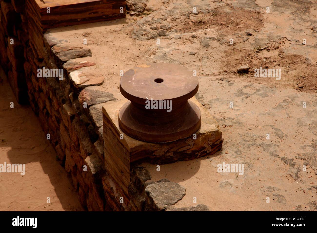 Ruins of Harappa civilisation, Dholavira, Gujarat,India - Stock Image