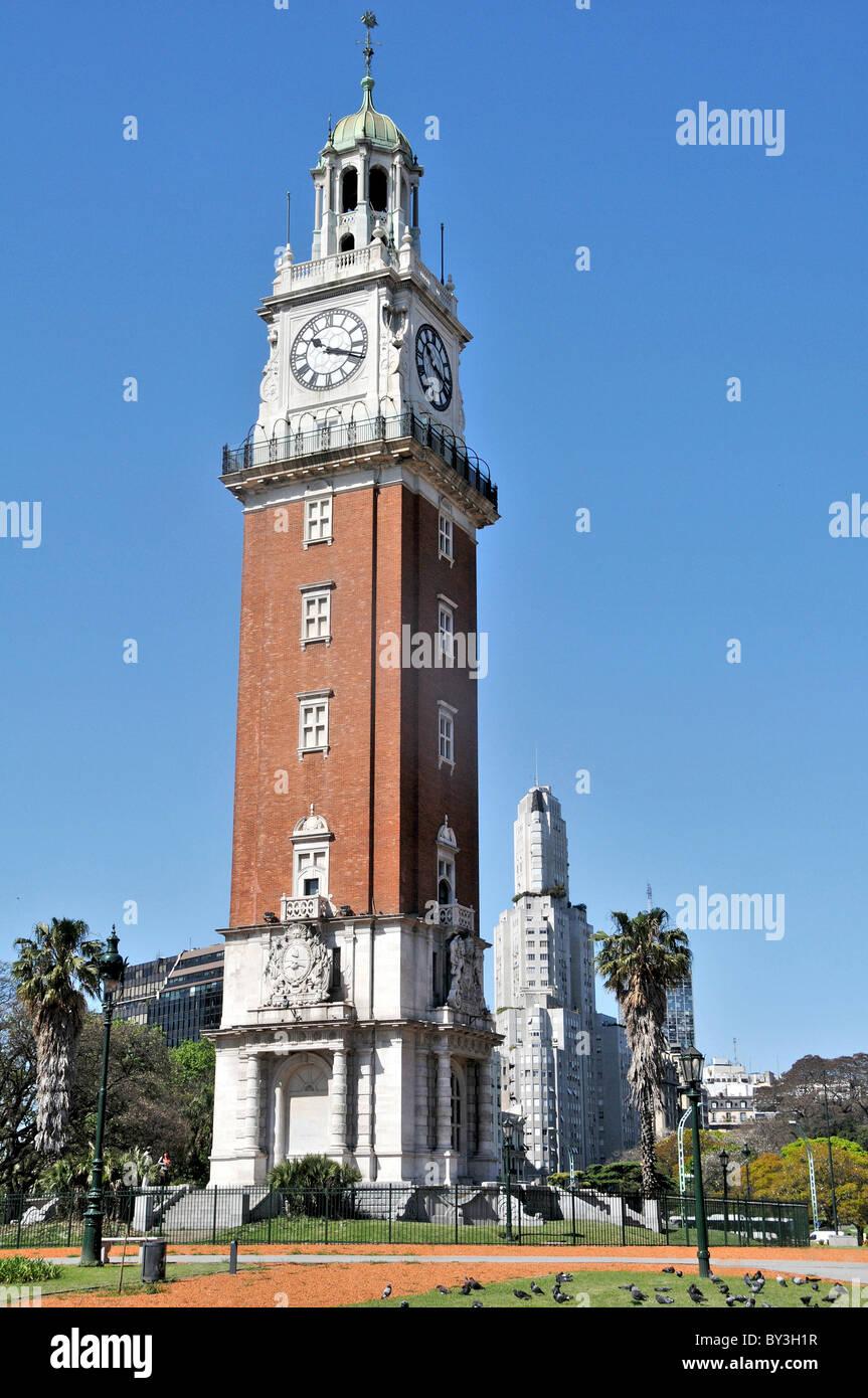 English tover, San Martin plaza, Buenos Aires, Argentina - Stock Image