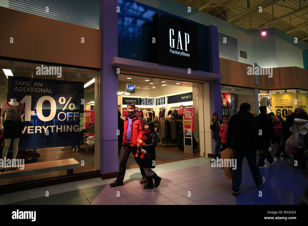 988d9612e74c9 Outside GAP outlet store in Vaughan Mills Mall in Toronto, 2010 ...