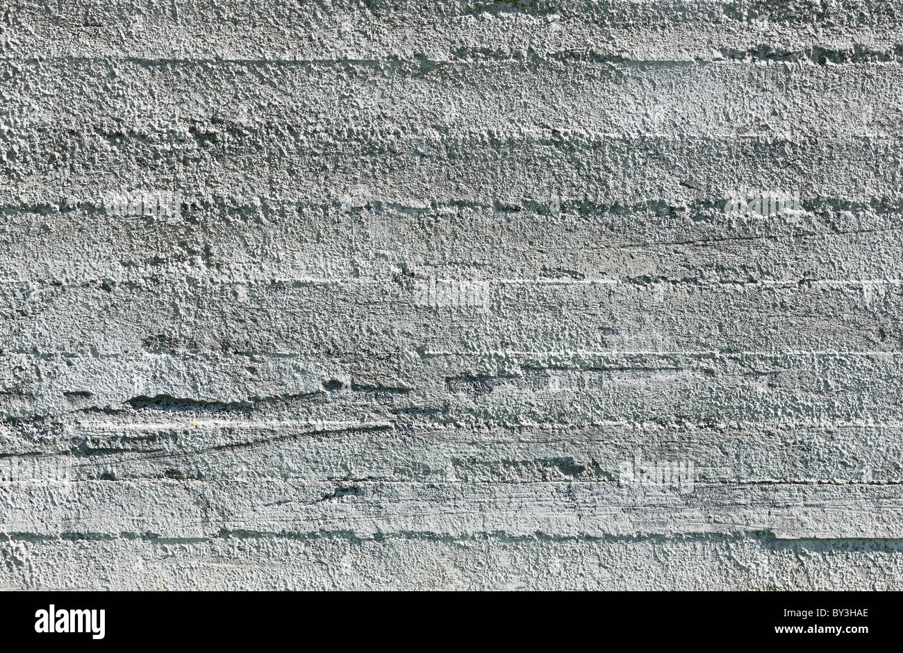 Empty concrete wall texture - perfectly lit - Stock Image