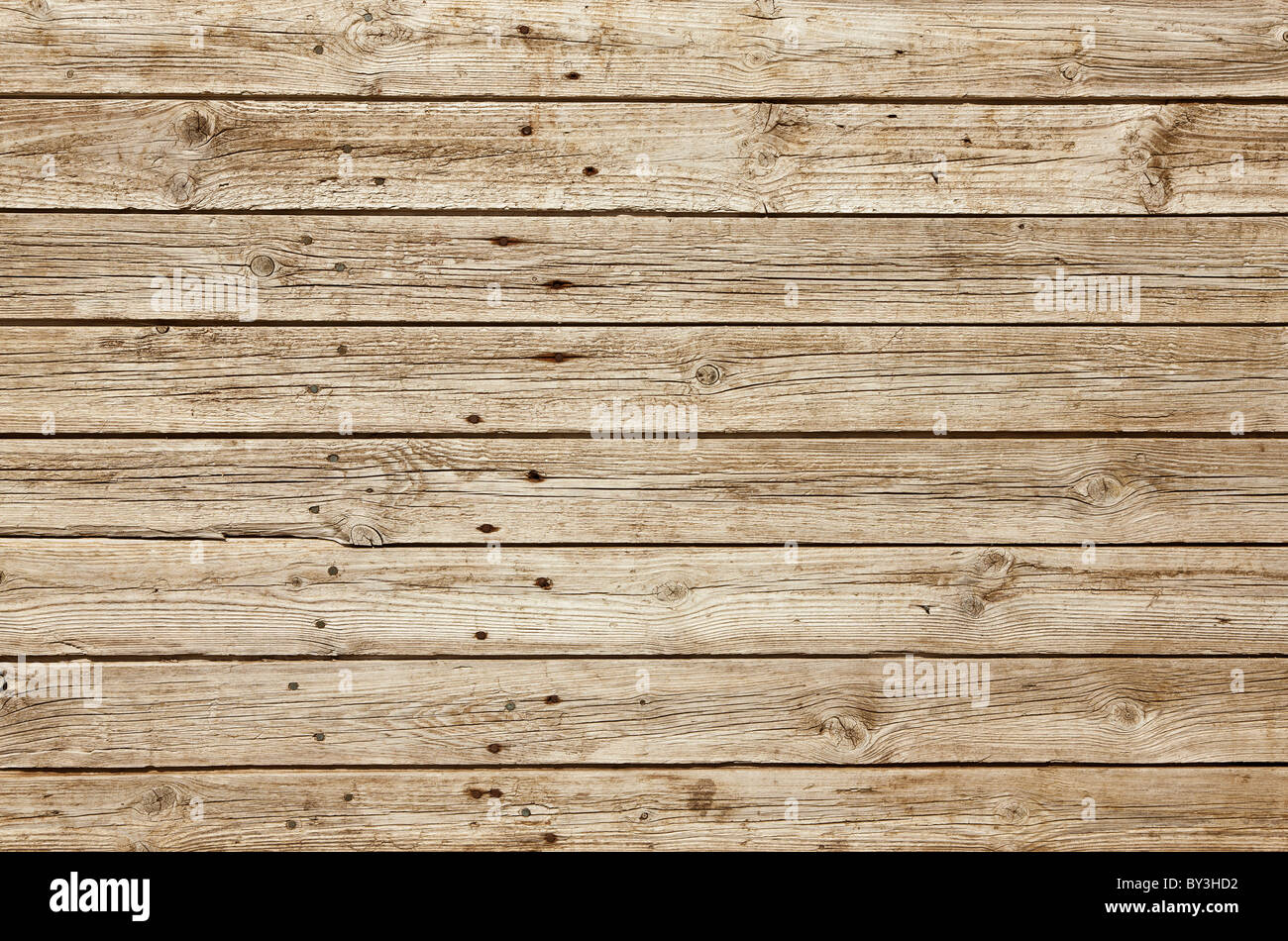 Wooden background with perfectly even light - Stock Image