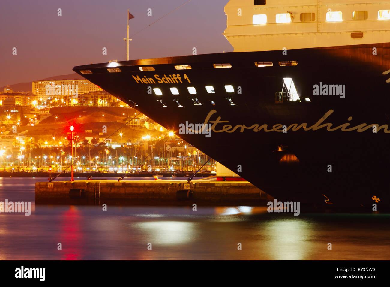 Tui cruise ship 'Mein Schiff' in Las Palmas on Gran Canaria, Canary Islands, Spain - Stock Image