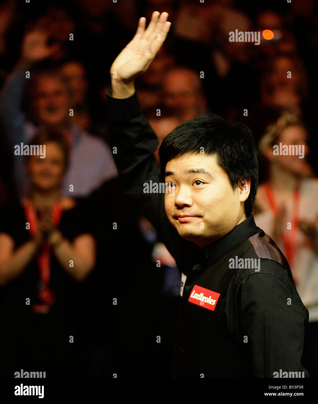 16.01.2011 Ding Junhu Masters Snooker Champion 2011, he beat Marco Fu in the Final by 10-4 at the Wembley Arena. - Stock Image