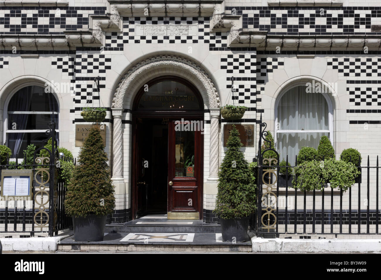 Front Elevation Of Houses In London : Langham hotel london exterior stock photos