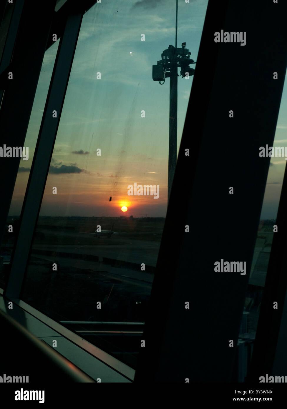 sunset in Vietnam - Stock Image