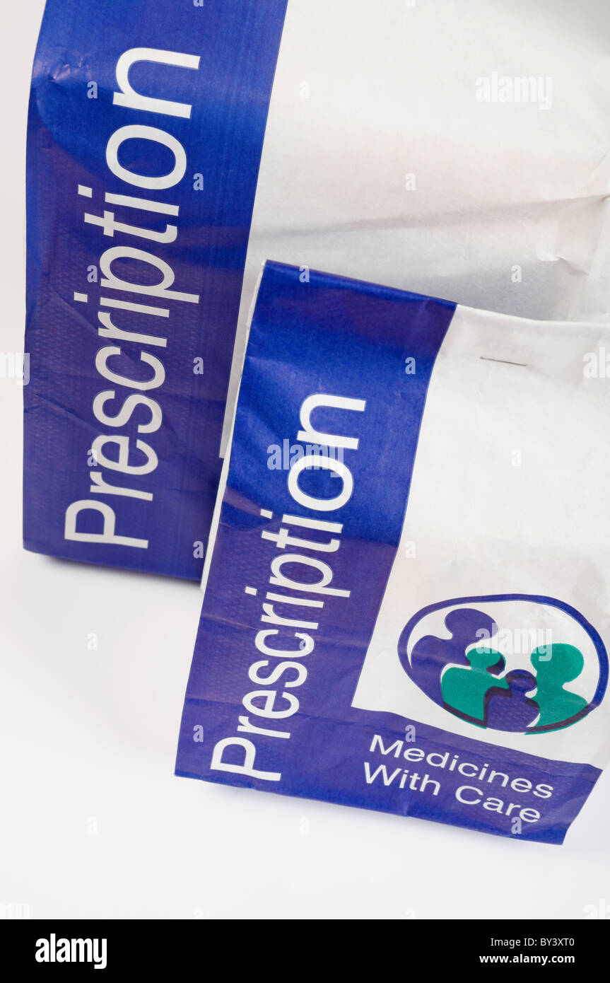 UK prescription drugs - Stock Image