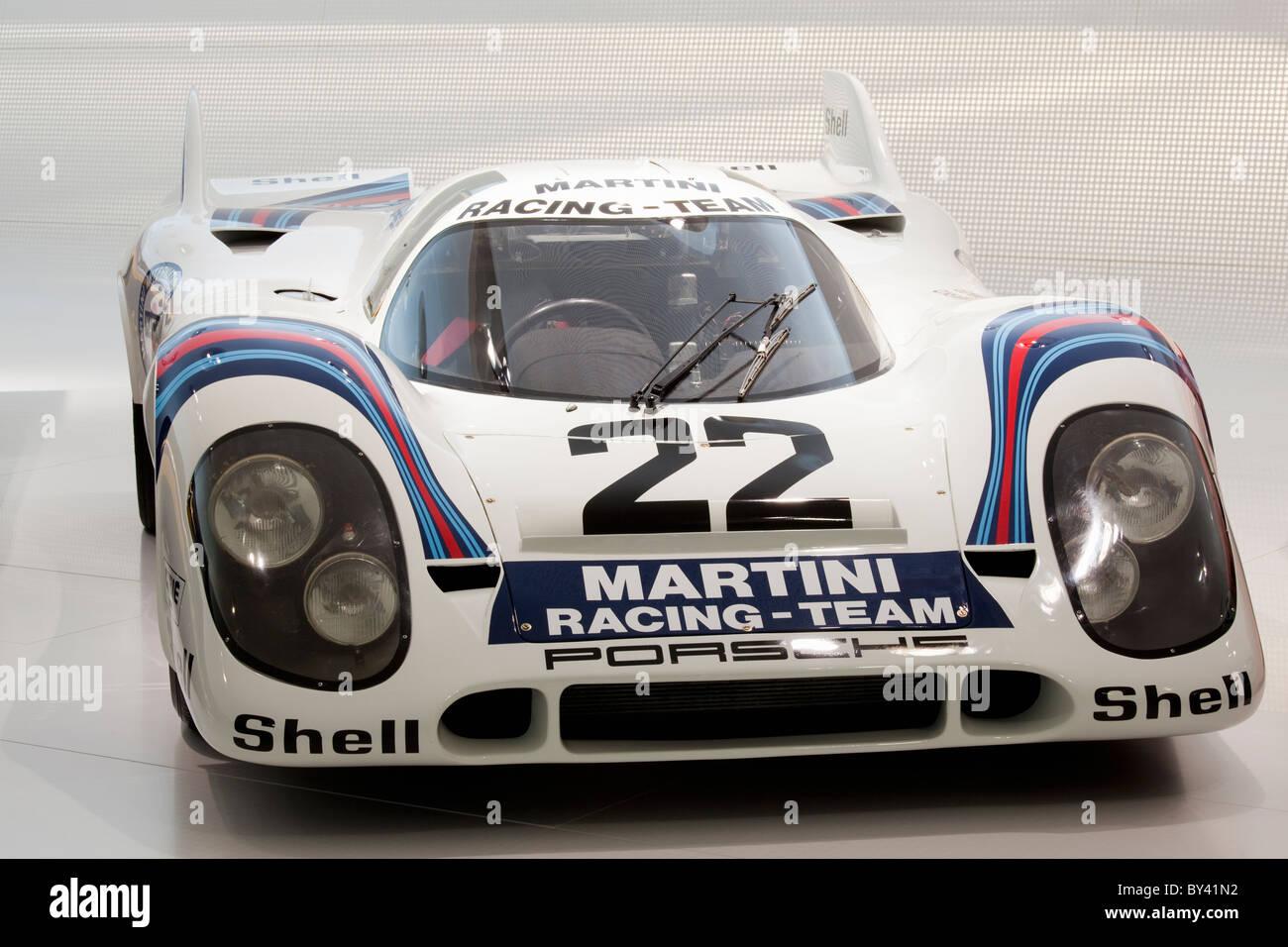 Germany,Stuttgart,Porsche Museum, Le Mans racers Stock Photo