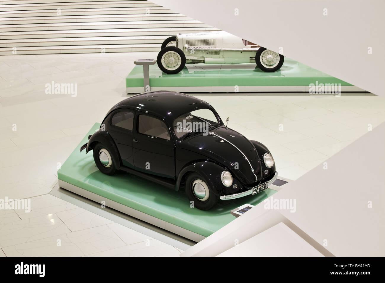 Germany,Stuttgart,Porsche Museum, 1939 Porsche designed Type 1 Volks Wagen - Stock Image