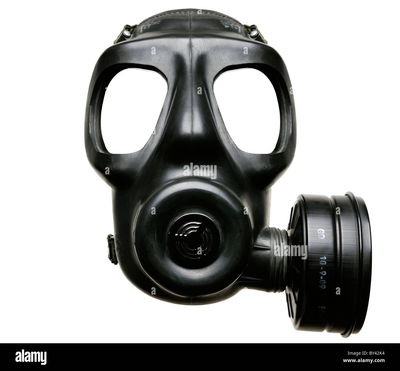Gas Mask, Cut Out, Close Up. - Stock Image