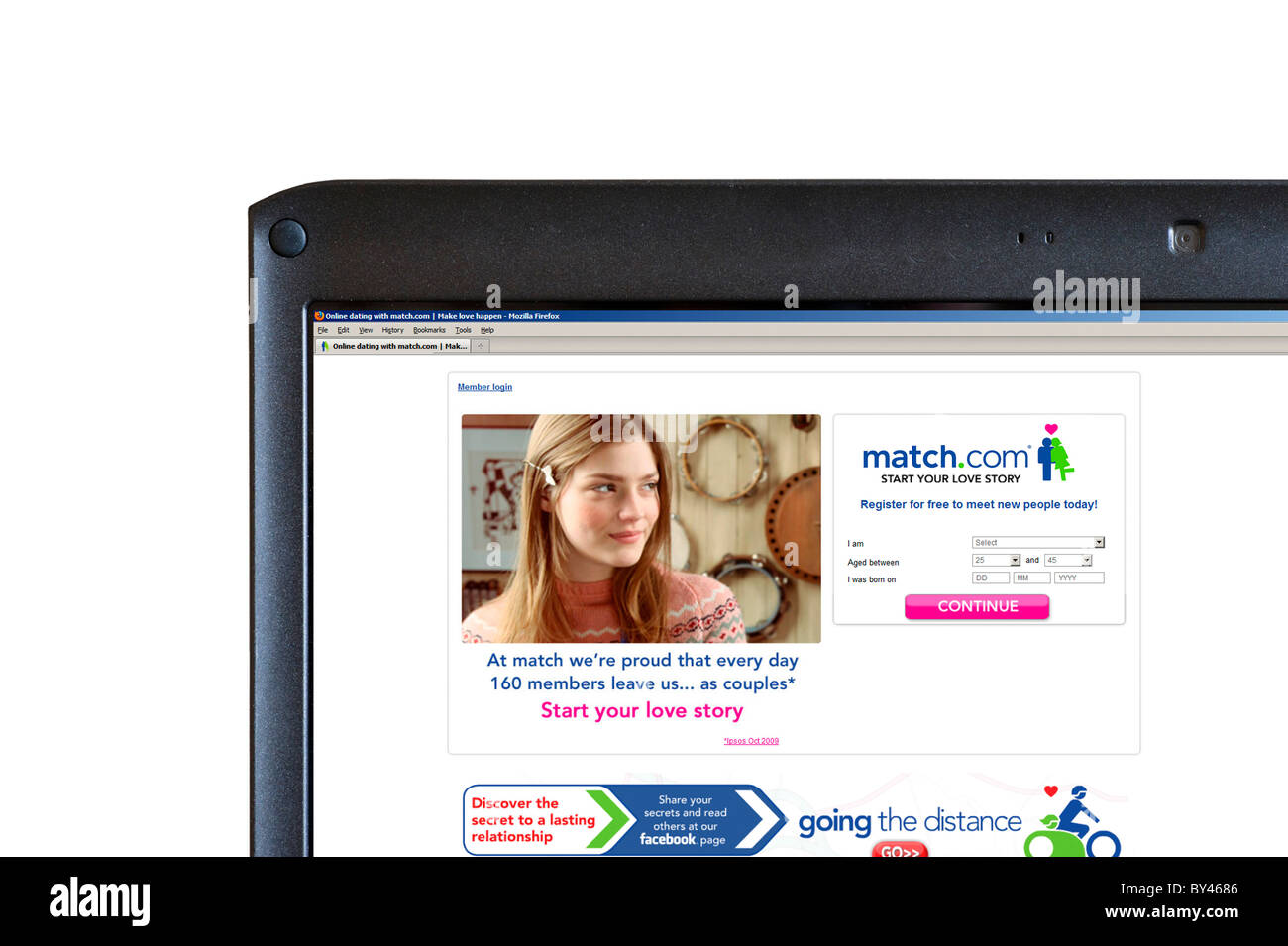 Online dating with match.com, UK Stock Photo