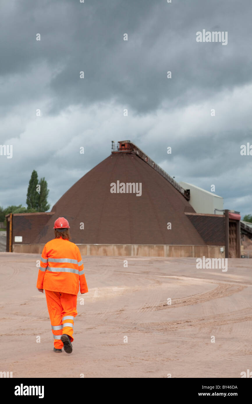 Winsford Rock Salt Mine Cheshire UK - rock salt for roads in winter - Stock Image