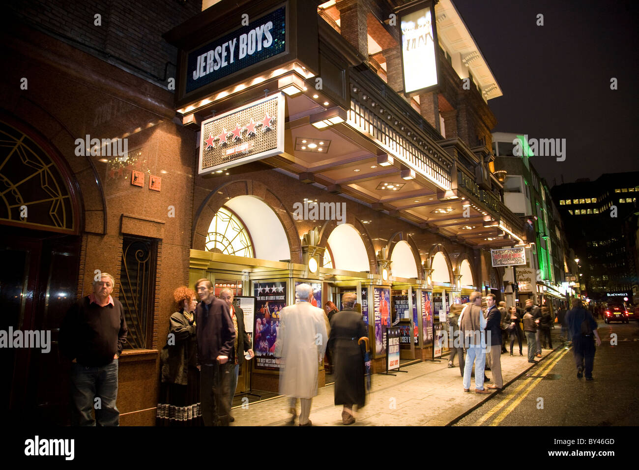 Prince Edward theatre Jersey Boys West End theatre in theatreland West End Central London UK. Photo:Jeff Gilbert - Stock Image