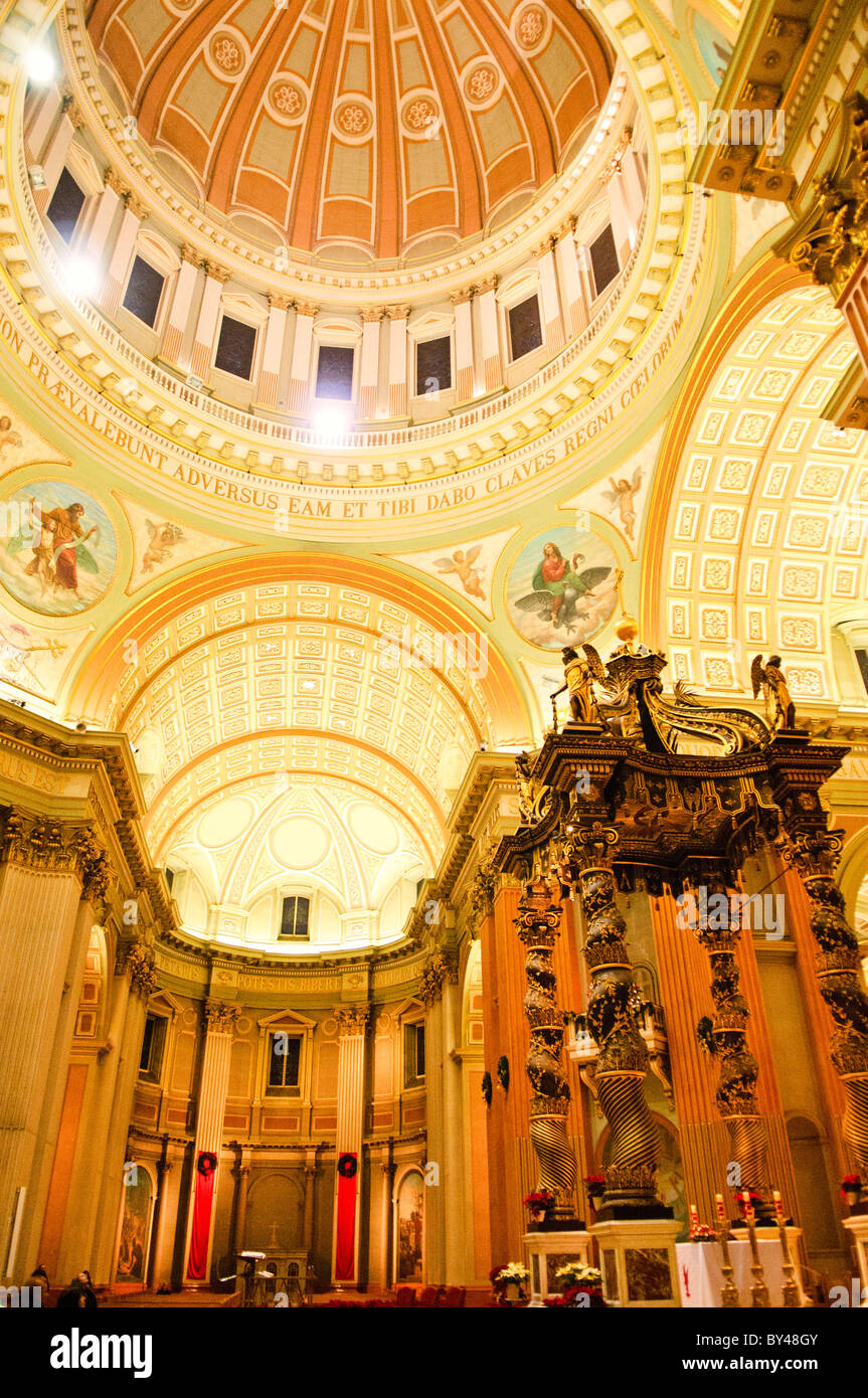 MONTREAL, Canada - Mary, Queen of the World Cathedral in downtown Montreal, Canada, is the seat of the Roman Catholic - Stock Image